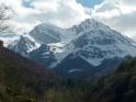 Le due cime del Pizzo d'Intemesoli e in mezzo la Conca del Sambuco