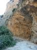 Le stratificazioni della roccia calcarea